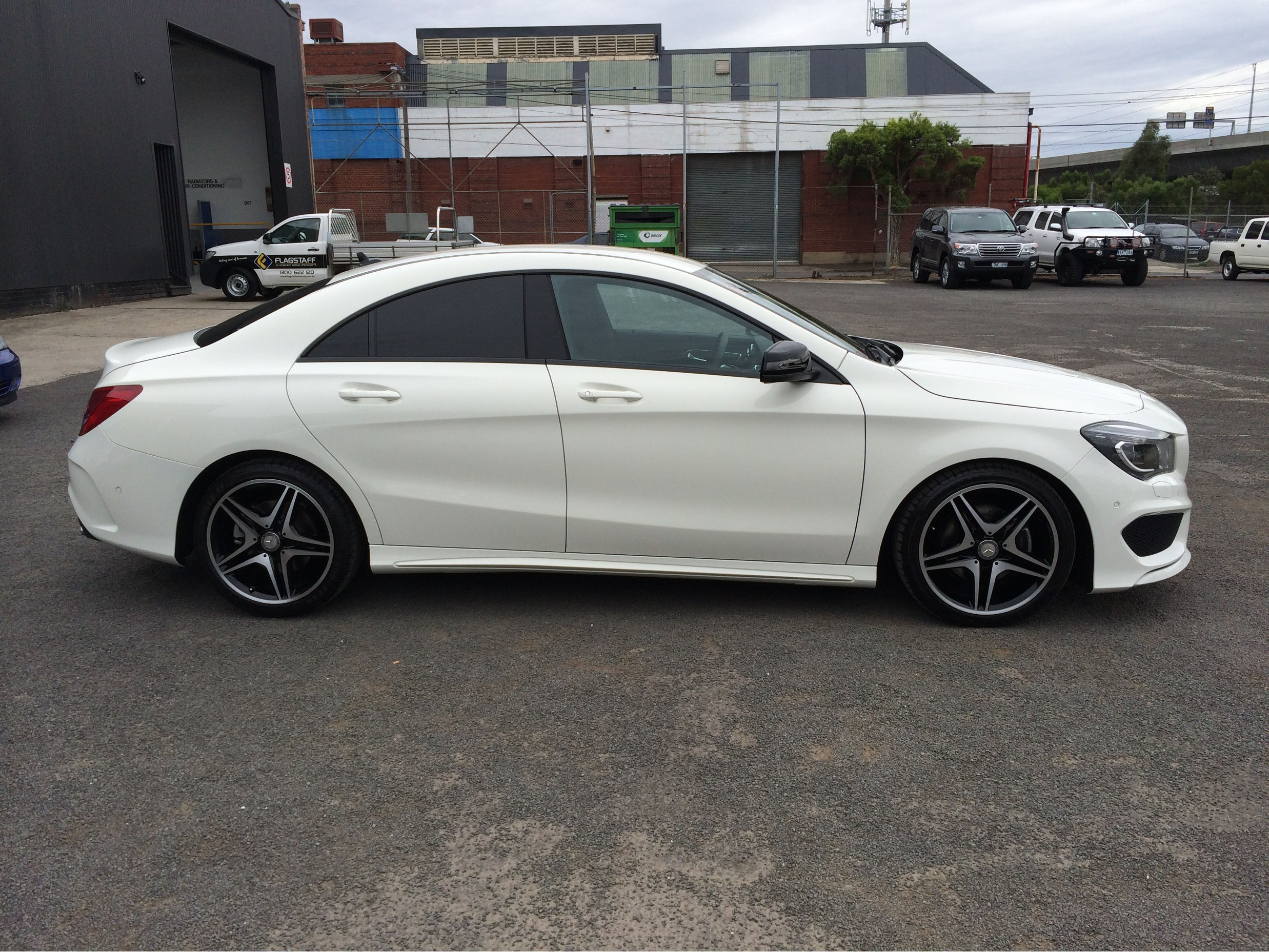Mercedes benz cla200 panel beating photos flagstaff for Mercedes benz of flagstaff